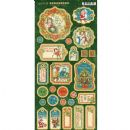 "Graphic 45 - Christmas Magic - Chipboard Die-Cuts 6""X12"" Sheet Decorative Journaling"